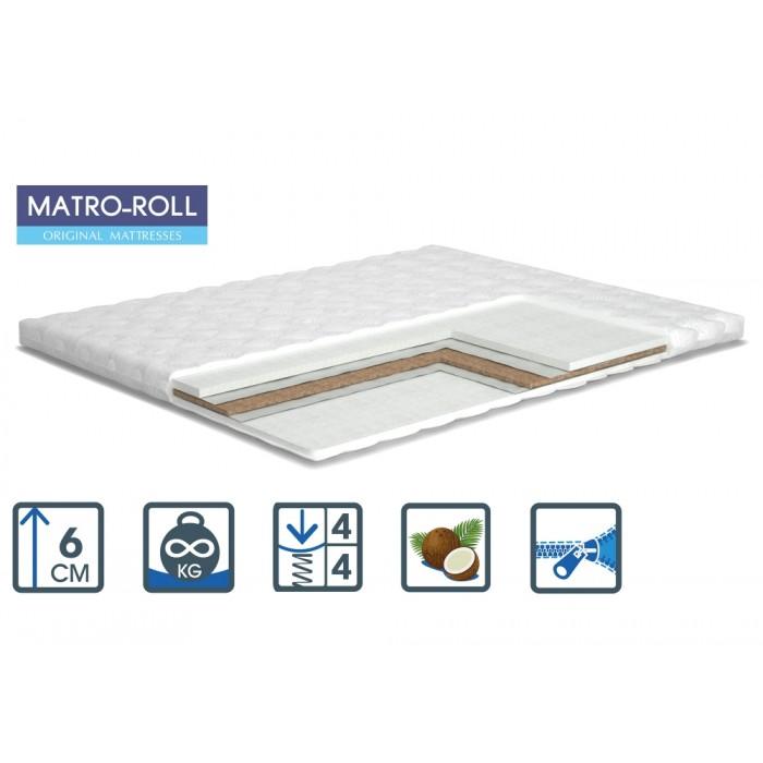 Тонкий матрас Matroluxe Extra Kokos Matro-Roll-Topper/Экстра Кокос 80х190