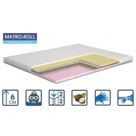 Тонкий матрас Matroluxe Memotex Matro-Roll-Topper/Мемотекс 80х190