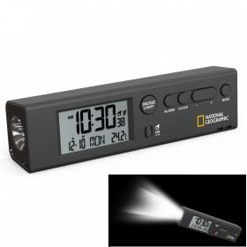 Часы настольные National Geographic Thermometer Flashlight Black (9060300)