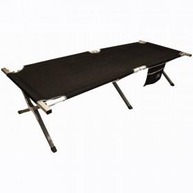 Кровать кемпинговая Highlander Aluminium Camp Bed w/pocket Black (925482) (5034358041014)