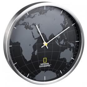 Часы настенные National Geographic World Map Aluminium (9080000) Refurbished