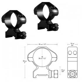 Кольца Hawke Precision 30mm/Weaver/High (23007) (925040) (5054492230075)