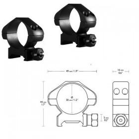 Кольца Hawke Precision 30mm/Weaver/Medium (23006) (925039) (5054492230068)