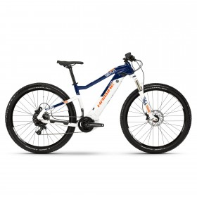 Велосипед Haibike SDURO HardNine 5.0 i500Wh NX 19 HB YCS, рама M, бело-сине-оранжевый, 2019