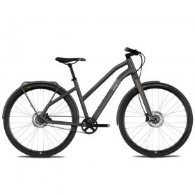 "Велосипед Ghost Square Urban 5.8 28"" , рама L, серо-коричнево-черный, 2021"
