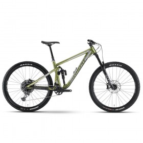 "Велосипед Ghost RIOT AM AL/AL U Universal 27,5"", рама S, зелёно-серый, 2021"