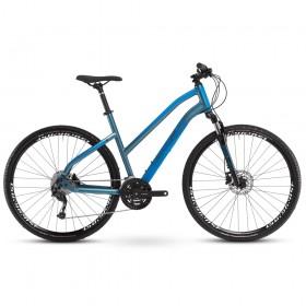 "Велосипед Ghost Square Cross Base AL W 28"", рама L, сине-голубой, 2021"