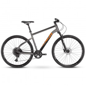 "Велосипед Ghost Square Cross Essential AL W 28"", рама L, серо-черный, 2021"