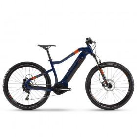 "Электровелосипед Haibike SDURO HardSeven 1.5 i400Wh 9 s. Altus 27,5"", рама XL, голубой-оранжевый-титан, 2020"