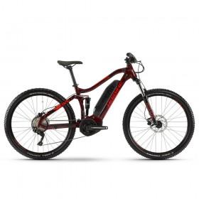 "Электровелосипед Haibike SDURO FullSeven Life 1.0 500Wh 10 s. Deore 27.5"", рама M, вишнево-черно-красный, 2020"