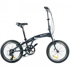 "Велосипед Spirit Urban 20"", рама Uni, тёмно-серый, 2021"