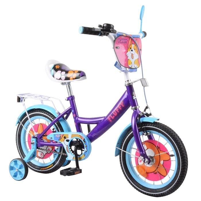 "Велосипед TILLY Fluffy 14 ""T-214213 purple + l.blue"