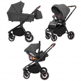 Детская универсальная коляска 3 в 1 Carrello Epica (Каррелло Эпика) CRL-8511/1 (3in1) Iron Grey (6900085001876) Цвет Серый