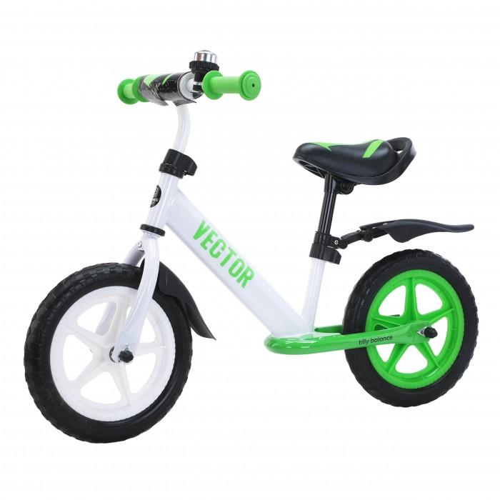 """Детский беговел Tilly balance (Тилли Баланс Вектор) 12"""" Vector T-21256/1 Green (6900108000619) Цвет Зеленый"""