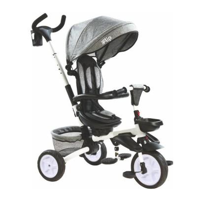 Велосипед трехколесный Tilly FLIP (Тилли Флип) T-390 Сірий (6900009006925) Цвет Серый