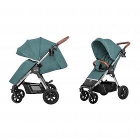 Детская прогулочная коляска Carrello Supra (Каррелло Супра) CRL-5510 Aqua Green, с дождевиком (6900125000111) Цвет Зеленый