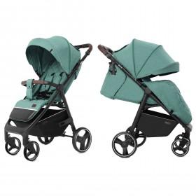 Детская прогулочная коляска Carrello Bravo (Каррелло Браво) CRL-8512 Basil Green, с дождевиком Цвет Зеленый