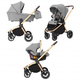 Детская универсальная коляска 3 в 1 Carrello Epica (Каррелло Эпика) CRL-8511 (3in1) Silver Grey , с дождевиком (6900085001692) Цвет Серый
