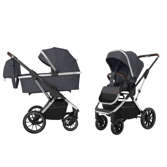 Детская универсальная коляска 2 в 1 Carrello Aurora (Каррелло Аврора) CRL-6505 (2in1) Iron Grey , с дождевиком (6900085002828) Цвет Серый
