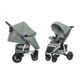 Детская прогулочная коляска Carrello Vista (Каррелло Виста) CRL-5511 Olive Green, лен (6900085002583) Цвет Зеленый