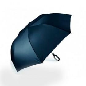 Складной зонт Lexon Mini Hook с ручкой-крюком, синий